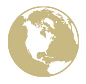 Graphic of a gold globe