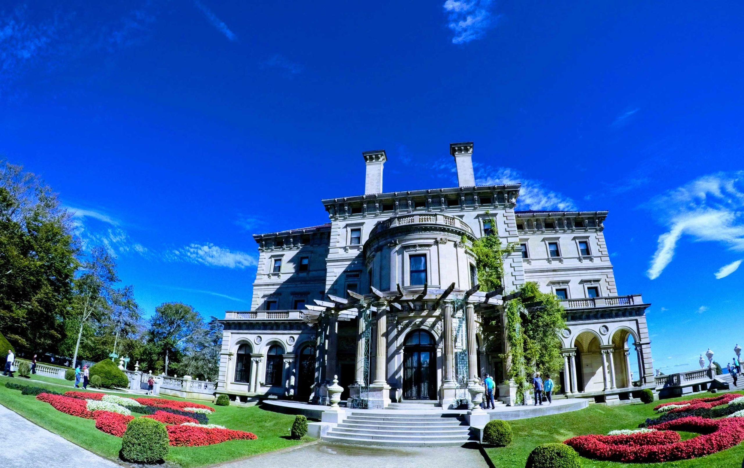 Photograph of a mansion in Newport, Rhode Island